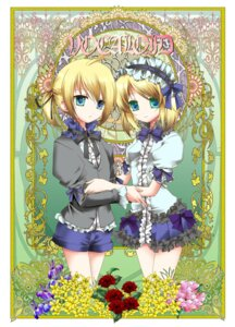 Rating: Safe Score: 11 Tags: kagamine_len kagamine_rin lolita_fashion vocaloid yuuki_kira User: charunetra