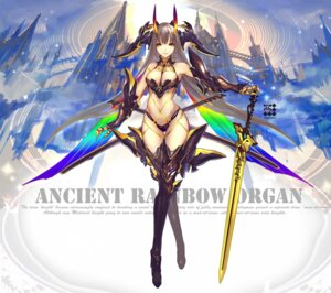 Rating: Safe Score: 69 Tags: armor bikini_armor cleavage heels horns kiwamu sword thighhighs wings User: Mr_GT