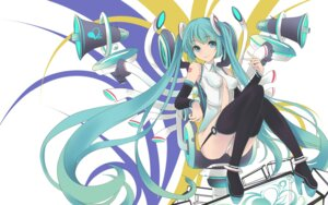 Rating: Questionable Score: 30 Tags: faefaea hatsune_miku miku_append stockings thighhighs vocaloid vocaloid_append User: gogotea28