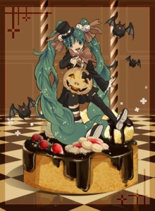 Rating: Safe Score: 20 Tags: cosmic dress halloween hatsune_miku thighhighs vocaloid User: charunetra