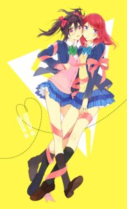 Rating: Safe Score: 15 Tags: karuha love_live! nishikino_maki seifuku yazawa_nico User: Radioactive