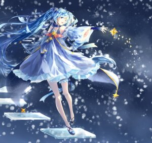 Rating: Safe Score: 48 Tags: dress garter hatsune_miku lemonshake tagme vocaloid yuki_miku User: Mr_GT