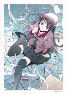 Rating: Safe Score: 22 Tags: bakemonogatari komiya_toshimasa moonsorrow senjougahara_hitagi thighhighs User: Radioactive