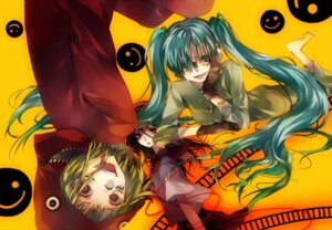 Rating: Safe Score: 20 Tags: gumi hatsune_miku headphones matryoshka_(vocaloid) seifuku tsukioka_tsukiho vocaloid User: charunetra