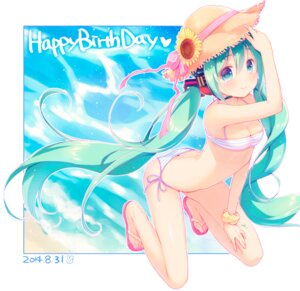 Rating: Questionable Score: 51 Tags: bikini cleavage hatsune_miku mani swimsuits vocaloid User: fairyren