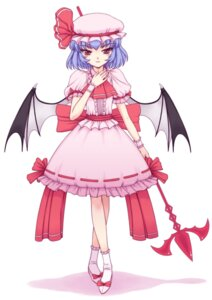 Rating: Safe Score: 10 Tags: dress orbg remilia_scarlet touhou wings User: charunetra