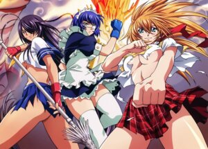 Rating: Questionable Score: 29 Tags: ass eyepatch ikkitousen kanu_unchou maid no_bra nopan rin_sin ryomou_shimei seifuku sonsaku_hakufu thighhighs torn_clothes underboob weapon User: Radioactive