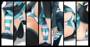 Rating: Questionable Score: 78 Tags: ass cameltoe eto hatsune_miku pantsu panty_pull shimapan thighhighs undressing vocaloid User: ノ_Ax