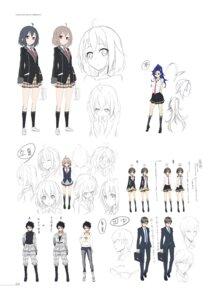 Rating: Safe Score: 11 Tags: business_suit character_design cleavage digital_version kare_to_hitokui_no_nichijou kasuga_ayumu_(artist) megane open_shirt seifuku sketch User: fireattack