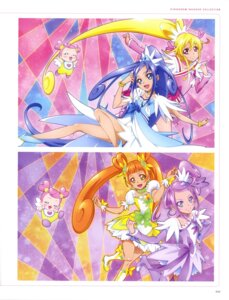 Rating: Questionable Score: 6 Tags: ai-chan_(precure) aida_mana dokidoki!_precure dress heels hishikawa_rikka kenzaki_makoto pretty_cure takahashi_akira thighhighs yotsuba_alice User: drop