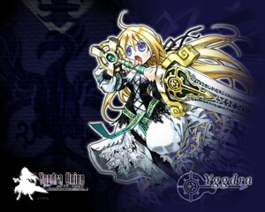 Rating: Safe Score: 4 Tags: kiyuduki_satoko wallpaper yggdra_union yggdra_yuril_artwaltz User: feralphoenix