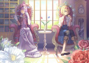 Rating: Safe Score: 12 Tags: alice_margatroid madyy pantyhose patchouli_knowledge touhou User: Radioactive