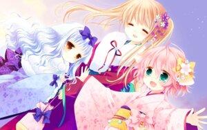 Rating: Safe Score: 30 Tags: cuffs kimono lily_(w&l) sakurazawa_izumi touko wallpaper wanko wanko_to_lily User: Hatsukoi