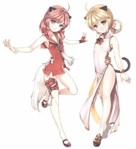 Rating: Safe Score: 64 Tags: animal_ears blade_&_soul chinadress jpeg_artifacts kuronell lyn_(blade_&_soul) nekomimi tail User: 切克闹