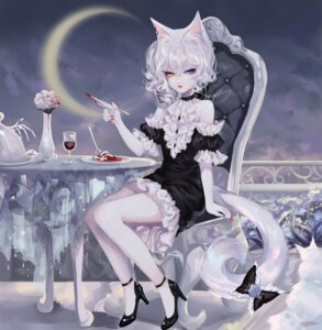 Rating: Safe Score: 13 Tags: animal_ears blood dress heels heterochromia neko nekomimi sheya tail User: Mr_GT