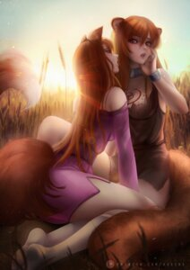 Rating: Questionable Score: 29 Tags: animal_ears axsens crossover dress holo raphtalia see_through spice_and_wolf tail tate_no_yuusha_no_nariagari tattoo torn_clothes yuri User: Darkthought75