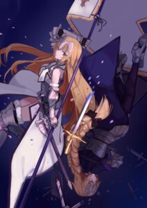 Rating: Safe Score: 63 Tags: armor fate/apocrypha fate/grand_order fate/stay_night heels hfp~kubiao jeanne_d'arc jeanne_d'arc_(fate) sword thighhighs weapon User: Mr_GT