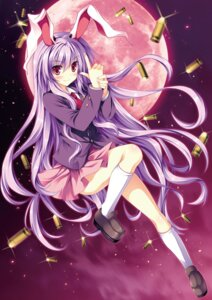Rating: Safe Score: 14 Tags: animal_ears bunny_ears reisen_udongein_inaba seifuku skirt_lift tagme tateha touhou User: Radioactive
