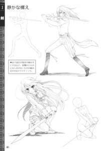 Rating: Safe Score: 1 Tags: monochrome sketch sword thighhighs User: crim