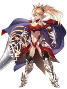 Rating: Safe Score: 15 Tags: armor cleavage fate/grand_order heels horns mordred_(fate) nasaniliu thighhighs weapon User: mash