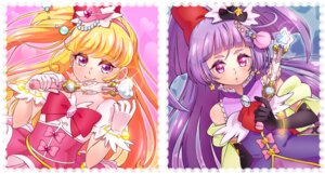 Rating: Safe Score: 10 Tags: asahina_mirai dress izayoi_riko mahou_girls_precure! pretty_cure weapon yupiteru User: cosmic+T5