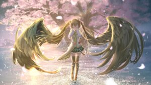 Rating: Safe Score: 37 Tags: hatsune_miku kouji_(astral_reverie) thighhighs vocaloid wallpaper User: charunetra