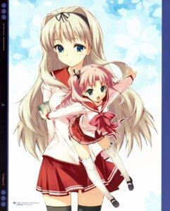 Rating: Safe Score: 34 Tags: kawata_hisashi kusugawa_sasara leaf maaryan seifuku thighhighs to_heart_(series) to_heart_2 User: Kalafina
