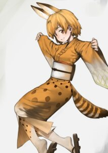 Rating: Safe Score: 18 Tags: animal_ears kemono_friends kimono ponderogen serval tail User: Mr_GT