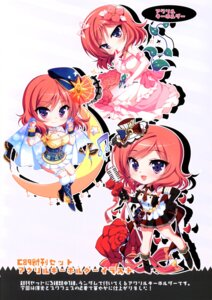 Rating: Questionable Score: 17 Tags: chibi cleavage dress garter heels love_live! ninoko ninokoya nishikino_maki User: tianshao008