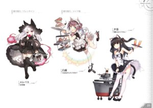 Rating: Questionable Score: 15 Tags: allenes animal_ears azur_lane dress erebus_(azur_lane) heels maid nekomimi saru shiratsuyu_(azur_lane) skirt_lift stockings tail thighhighs yuugure_(azur_lane) User: Twinsenzw