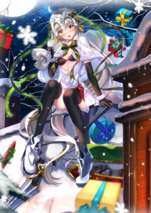 Rating: Safe Score: 25 Tags: armor bra christmas cleavage fate/grand_order heels jeanne_d'arc_alter_santa_lily swordsouls thighhighs weapon User: Mr_GT