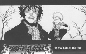 Rating: Safe Score: 5 Tags: bleach kubo_tite kurosaki_ichigo male monochrome sword yasutora_sado User: Radioactive
