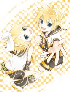 Rating: Safe Score: 5 Tags: kagamine_len kagamine_rin shima_riu vocaloid User: hobbito