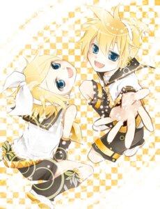 Rating: Safe Score: 5 Tags: kagamine_len kagamine_rin shima_riu vocaloid User: hobbito