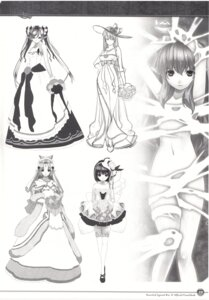 Rating: Questionable Score: 14 Tags: agarest_senki agarest_senki_2 cleavage dress fiona_(agarest_senki) hirano_katsuyuki liel loli mervina monochrome naked_ribbon pointy_ears screening sketch sofia_(agarest_senki) thighhighs vanessa_(agarest_senki) wedding_dress User: shadowninja