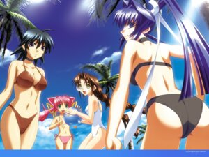 Rating: Safe Score: 40 Tags: ass ayamine_kei bikini bou cleavage megane mitsurugi_meiya muvluv sakaki_chizuru swimsuits tamase_miki wallpaper User: boon