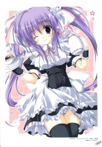 Rating: Questionable Score: 26 Tags: k-books korie_riko pantsu shimapan thighhighs waitress User: fireattack