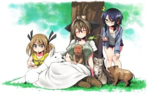 Rating: Safe Score: 19 Tags: chankodining_waka dress megane neko User: KazukiNanako