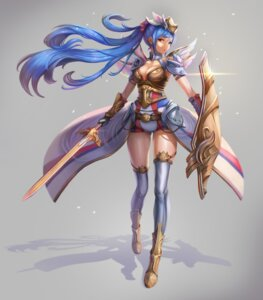 Rating: Questionable Score: 19 Tags: armor cleavage dori_(9720xyz) sword thighhighs User: Dreista