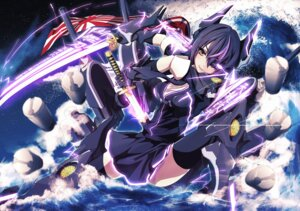 Rating: Safe Score: 46 Tags: kantai_collection meron_to_maria sword tenryuu_(kancolle) thighhighs User: dyj