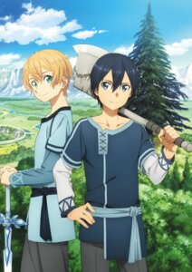 Rating: Safe Score: 12 Tags: eugeo kirito sword sword_art_online sword_art_online_alicization sword_art_online_alicization_lycoris weapon User: kiyoe