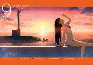 Rating: Safe Score: 85 Tags: 5_nenme_no_houkago calendar kantoku landscape nagisa_(kantoku) seifuku User: Hatsukoi