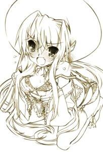 Rating: Questionable Score: 17 Tags: bra breast_grab monochrome pantsu senomoto_hisashi User: fairyren