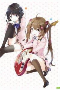 Rating: Safe Score: 81 Tags: aoharu! aoi_suzu guitar seifuku sumiyoshi_komachi thighhighs tiv User: yong