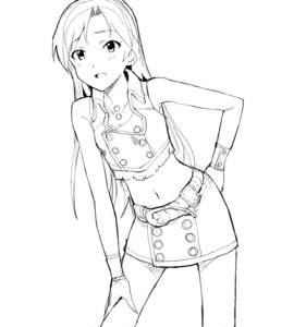 Rating: Safe Score: 8 Tags: a1 initial-g kisaragi_chihaya monochrome sketch the_idolm@ster User: Radioactive