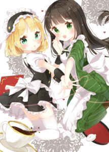Rating: Safe Score: 44 Tags: gochuumon_wa_usagi_desu_ka? jimmy kirima_sharo maid thighhighs ujimatsu_chiya wa_maid User: Mr_GT