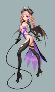 Rating: Questionable Score: 25 Tags: cleavage dungeon_fighter erect_nipples heels horns midfinger22 no_bra pointy_ears tattoo thighhighs wings User: Brufh