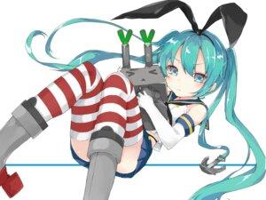 Rating: Safe Score: 60 Tags: cosplay hatsune_miku kantai_collection kou_mashiro rensouhou-chan shimakaze_(kancolle) thighhighs vocaloid User: tbchyu001