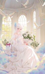 Rating: Questionable Score: 38 Tags: cirilla dress no_bra see_through wedding_dress User: Dreista