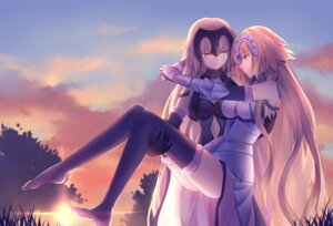 Rating: Safe Score: 45 Tags: armor fate/apocrypha fate/grand_order fate/stay_night gogatsu_fukuin jeanne_d'arc jeanne_d'arc_(alter)_(fate) jeanne_d'arc_(fate) thighhighs yuri User: Mr_GT